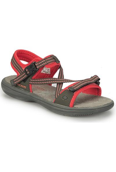 Dockers By Gerli 224906 Koyu Gri Fuşya Kadın Sandalet