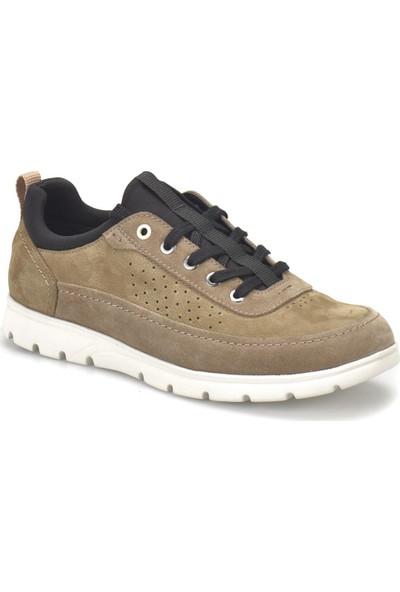 Flogart 040-2 Kum Rengi Erkek Deri Sneaker