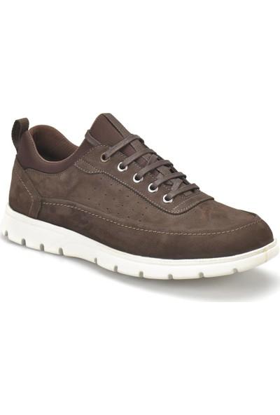 Flogart 040-2 Kahverengi Erkek Deri Sneaker