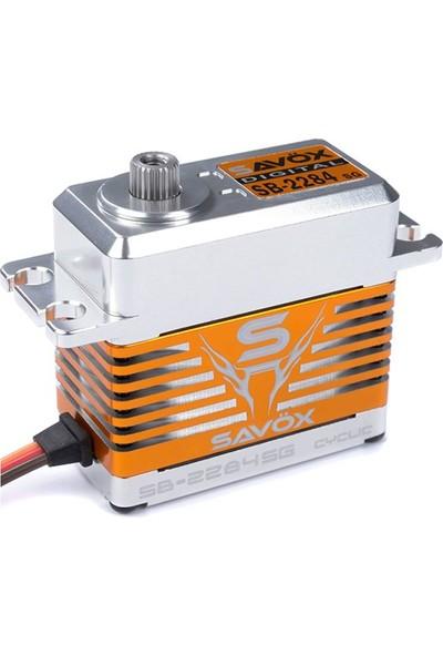 SAVOX - SB-2282SG Yüksek Voltaj Fırçasız Motor Çelik Dişli Dijital Servo
