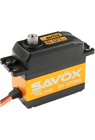 SAVOX - SV-1272SG Yüksek Voltaj Çekirdeksiz Motor Çelik Dişli Dijital Servo