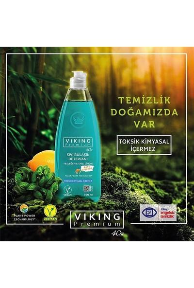 Viking Premium Sıvı Bulaşık Deterjanı Fesleğen&Tatlı Limon 750ml