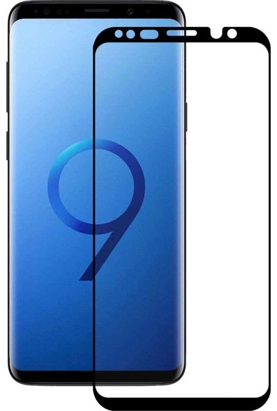 Teleplus Samsung Galaxy S9 Plus Tam Kapatan Cam Ekran Koruyucu Siyah