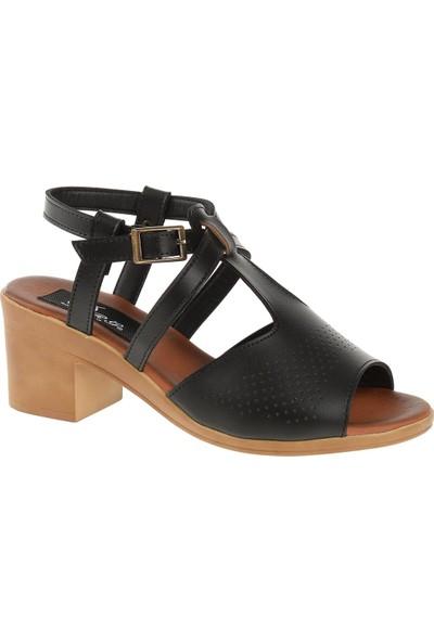 Derigo 52420 Kadın Sandalet Siyah