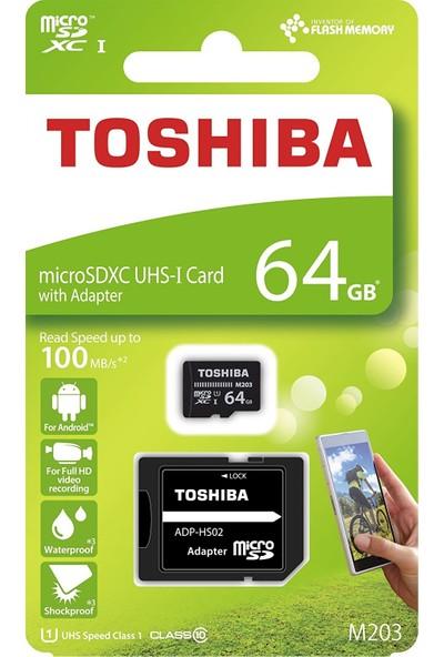 Toshiba 64Gb 100Mb/Sn Microsdxc™ Uhs-1 Class10 Excerıa Thn-M203K0640Ea