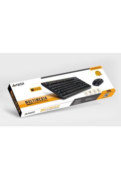 A4 TECH 4100 2.4Ghz Nano Kablosuz SET (Q Türkçe Multimedya Klavye + Optik Mouse)