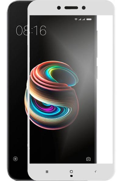 Case 4U Xiaomi Redmi 5A Tam Kaplayan Ekran Koruyucu - Nano Fiber - Beyaz