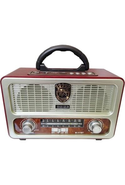 Gringo M111Bt Şarjlı Nostaljik Radyo Bluetootlu,Kumandalı Usb,Sd