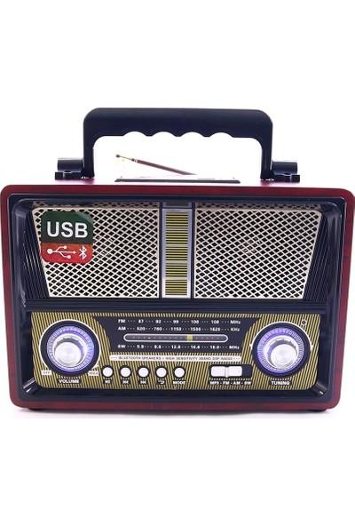 Gringo Md1802Bt Bluetooth Usb Sd Fm Nostaljik Görünümlü Radyo