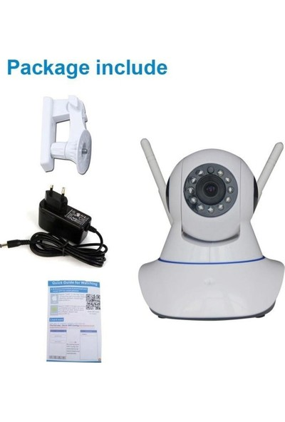 Gringo Kb Full Hd P2P 360º Wifi Kablosuz Ip Kamera Güvenlik Bebek İzleme