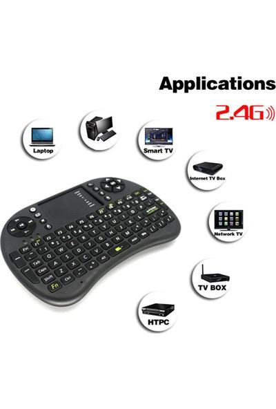 Gringo Kablosuz Şarjlı Mini Klavye Smart Tv Televizyon Ps3 Dokunmatik Mouse