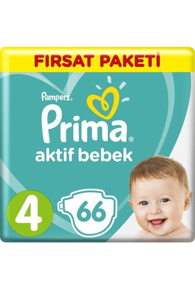 Prima Bebek Bezi Aktif Bebek Maxi Hiper Ekonomik Paketi 4 Beden 66 Adet