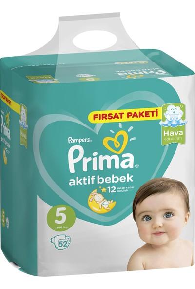 Prima Bebek Bezi Aktif Bebek 5 Beden Junior Fırsat Paketi 52 Adet