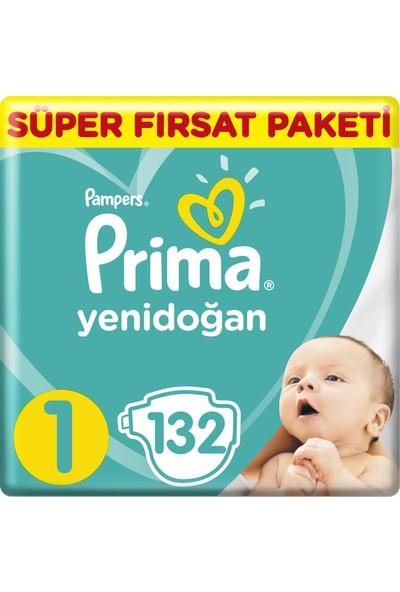 Prima Bebek Bezi Yeni Bebek 1 Beden Yenidoğan Süper Fırsat Paketi 132 Adet