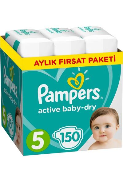 Prima Bebek Bezi Aktif Bebek 5 Beden Junior Aylık Fırsat Paketi Paket 150 Adet