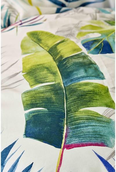 Karaca Home Palm Yeşil Ranforce Çift Kişilik Nevresim Takımı