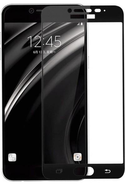 Microcase Samsung Galaxy C5 Pro Tam Kaplayan Tempered Glass Cam Koruma