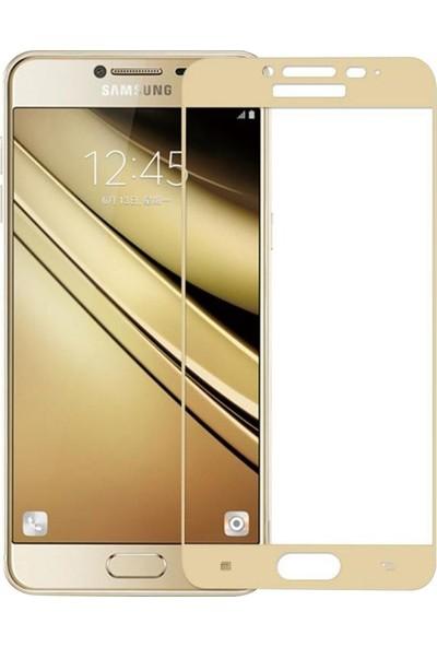 Microcase Samsung Galaxy J7 Pro J730 Tam Kaplayan Tempered Glass Cam Koruma