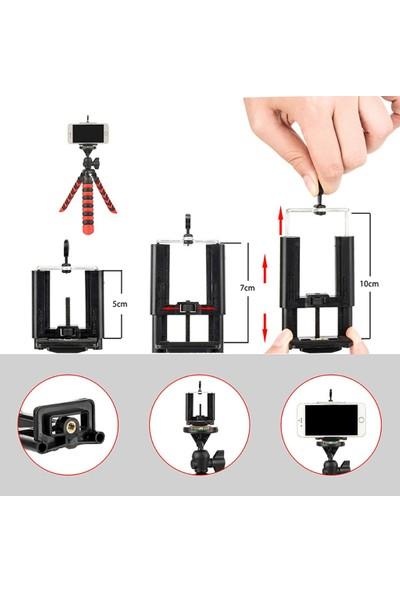 Microcase Akrobat Silikon Ayaklı Telefon Dslr Kamera Ahtapot Tripod 3 Ayak