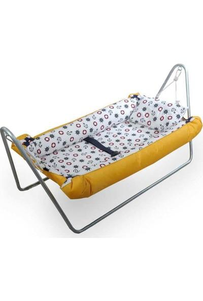Svava Elyaflı Bebek Hamak Beşik (Sarı)