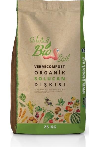 Biosoil %100 Organik Solucan Gübresi 25 Kg