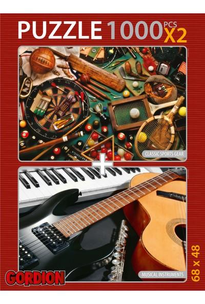 Gordion Musical Instrument & Sports 2X1000 Parça Puzzle Takım