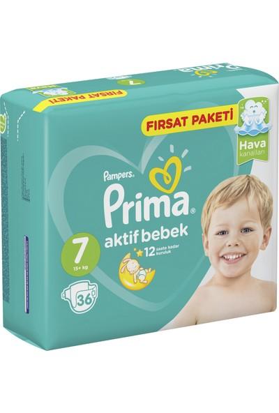 Prima Bebek Bezi Aktif Bebek 7 Beden XX Large Fırsat Paketi 36 Adet