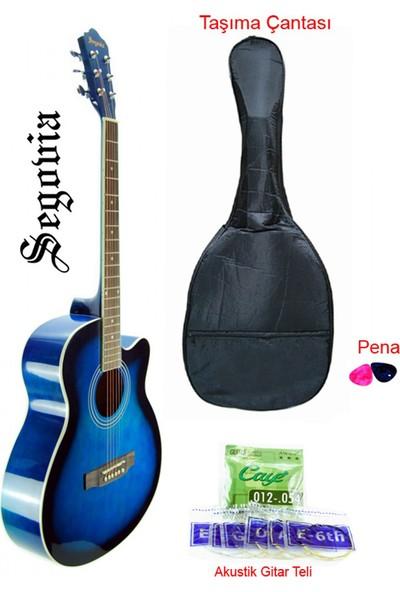 Segovia SGA40BLS Cutaway Akustik Gitar
