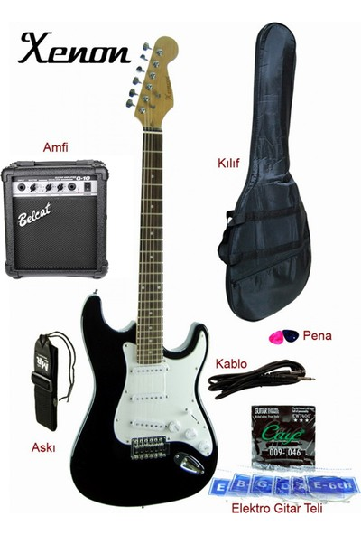 Xenon XNE3BKSET Elektro Gitar Seti