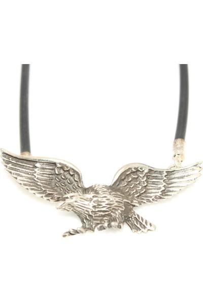 Nusret Takı 925 Ayar Gümüş Uçan Kartal Kolye