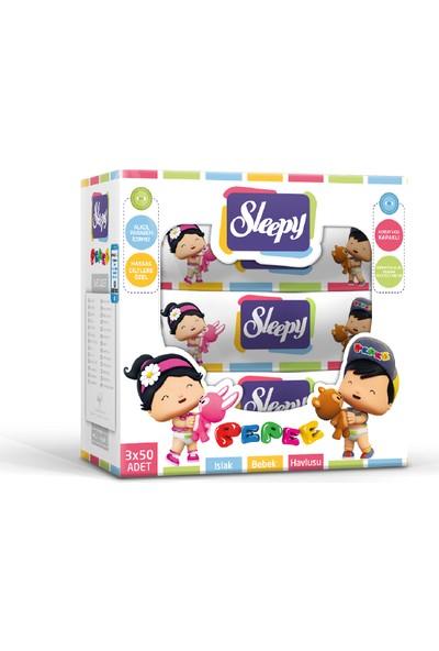 Sleepy Pepee Kapaklı Islak Havlu 3'lü Fırsat Paketi 150 Yaprak