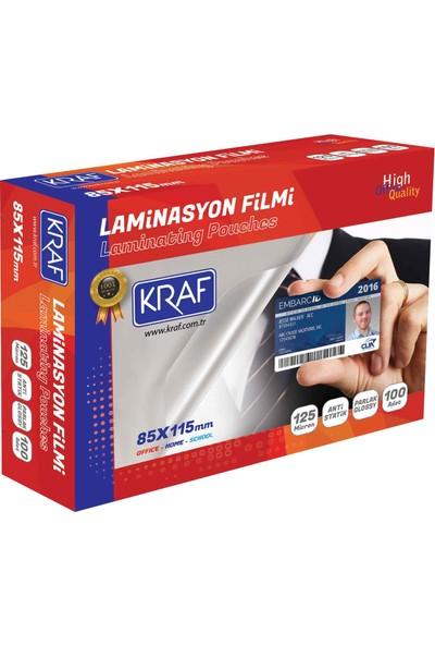 Kraf Laminasyon Filmi 85X115Mm 125Mic 100Lü 2128