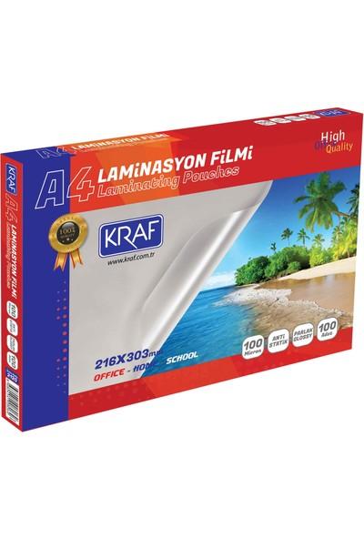 Kraf Laminasyon Filmi Parlak A4 100Mıc 100Lü 2120