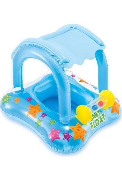 Intex Baby Float Gölgelikli Mavi