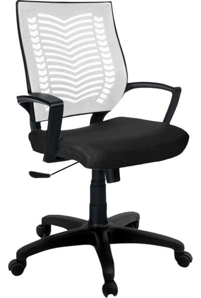 Büromotto Show Ofis Koltuğu, Bilgisayar ve Çalışma Sandalyesi - Beyaz Sırt