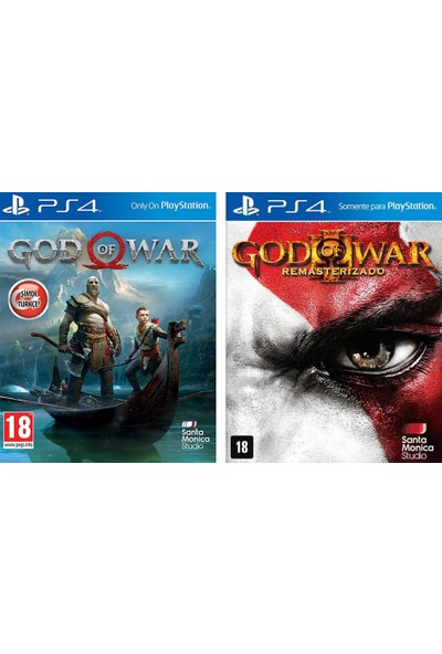 Santa Moni̇ca Ps4 God Of War 2Li Paket