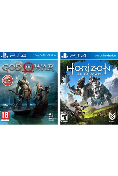 God Of War + Horizon Zero Dawn PS4