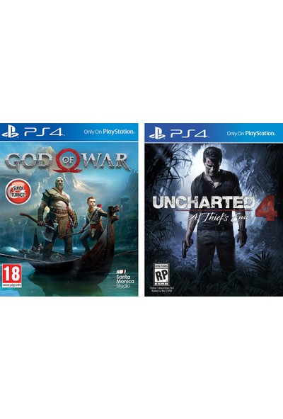 God Of War + Uncharted 4 PS4 Oyun