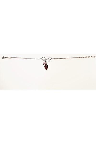 Tyelo Takı, 925 Ayar Gümüş, Beyaz,Kırmızı Ve Pembe Swarovskı Taş Bileklik