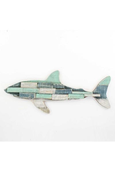 Piyop Dekoratif Köpek Balığı Ahşap Dekor 61X24,5 Cm