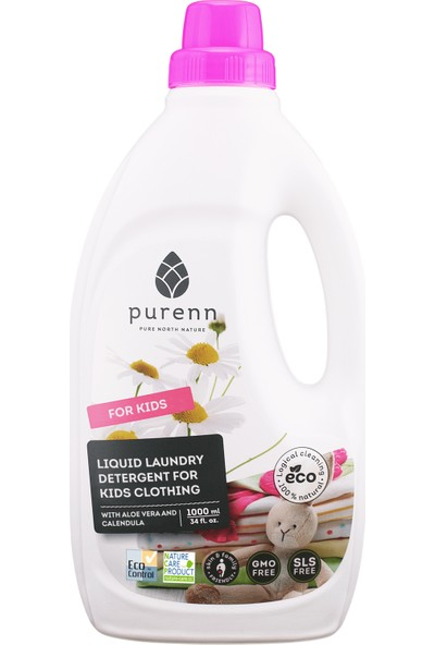 Purenn Organik Sıvı Çamaşır Makinesi Deterjanı Bebek Ve Çocuk Çamaşırları İçin