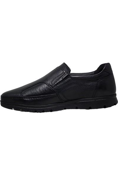 Forelli 32606 Erkek Siyah Deri Comfort Ayakkabı