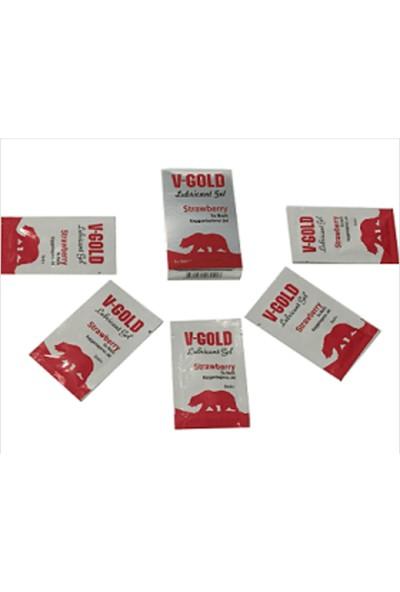 V-Gold Çilekli Kayganlaştırıcı 5X5Ml
