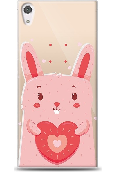 Eiroo Sony Xperia XA1 Ultra Bunny Baskılı Tasarım Kılıf