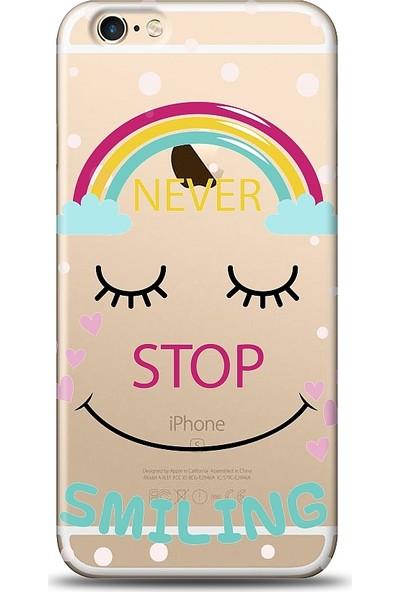 Eiroo Apple iPhone 6 / 6S Never Stop Smiling Baskılı Tasarım Kılıf