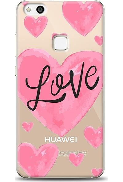 Eiroo Huawei P10 Lite Love Hearth Baskılı Tasarım Kılıf
