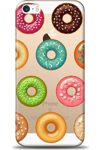 Eiroo Apple iPhone SE / 5 / 5S Donuts Baskılı Tasarım Kılıf