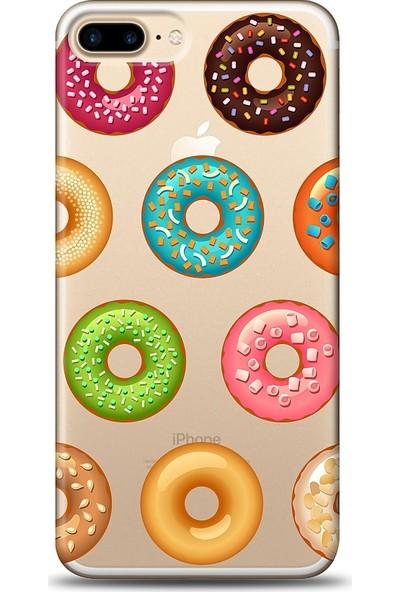 Eiroo Apple iPhone 8 Plus Donuts Baskılı Tasarım Kılıf