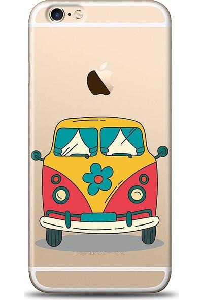 Eiroo Apple iPhone 6 / 6S Retro Minibus Baskılı Tasarım Kılıf