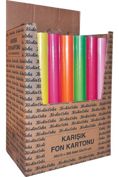 K.Color 35*50 160Gr 10Lu Karışık Poş. Fon Kartonu